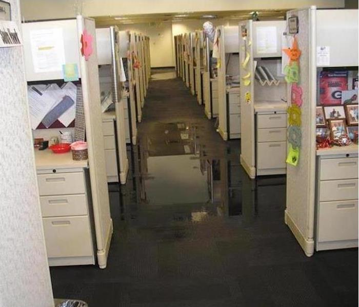 Commercial Water Damage – Chattanooga Offic Before